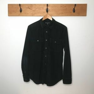 Banana Republic Forest Green Button Down corduroy